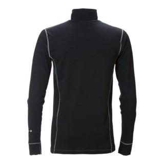 Fristads Flamestat Zipper-T-Shirt Langarm 7029 MOF Schwarz (Herren)