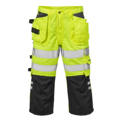 Fristads High Vis 3/4 Handwerkerhose Kl. 2 2027 PLU Gelb (Herren)
