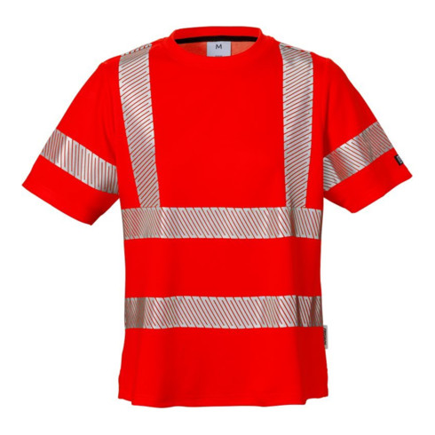 Fristads High Vis Damen-T-Shirt, Kl. 2 7458 THV Rot (Damen)