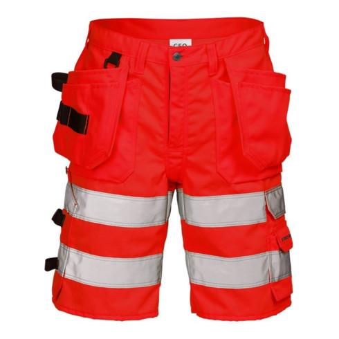 Fristads High Vis Handwerkershorts Kl. 2 2028 PLU Rot (Herren)