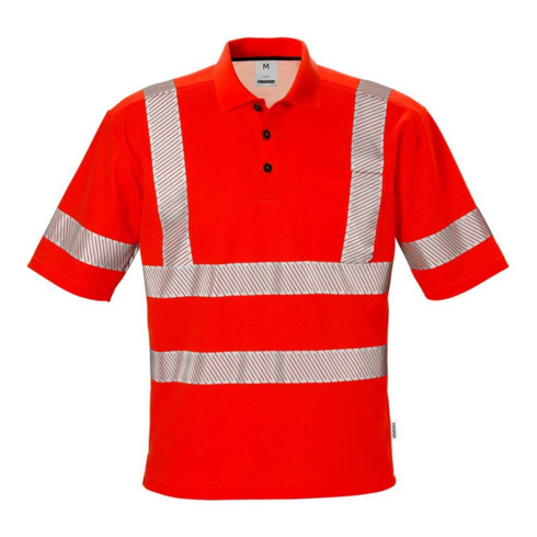 Fristads High Vis Poloshirt Kl. 3 7406 PHV Rot (Herren)