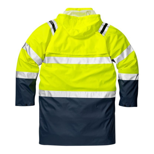 Fristads High Vis Regenmantel Kl. 3 4634 RS Dunkelblau (Unisex)
