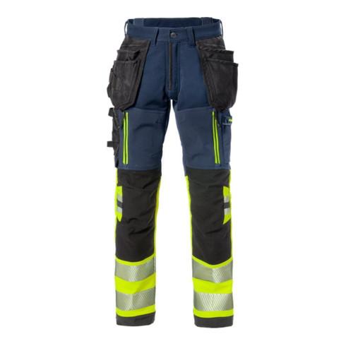 Fristads High Vis Stretch-Handwerkerhose Kl. 1 2568 STP Dunkelblau (Herren)
