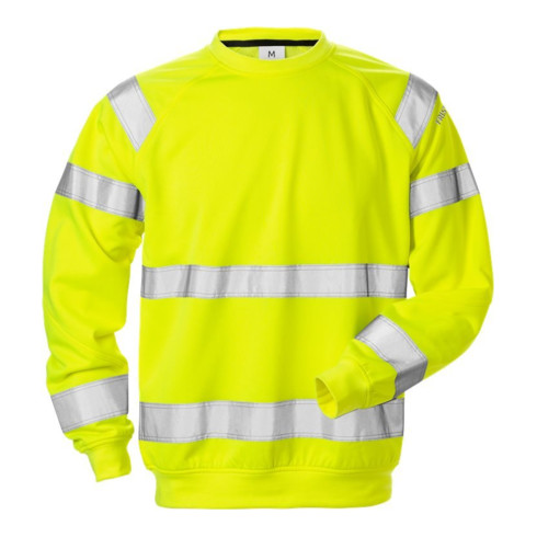 Fristads High Vis Sweatshirt Kl. 3 7446 SHV Gelb (Herren)