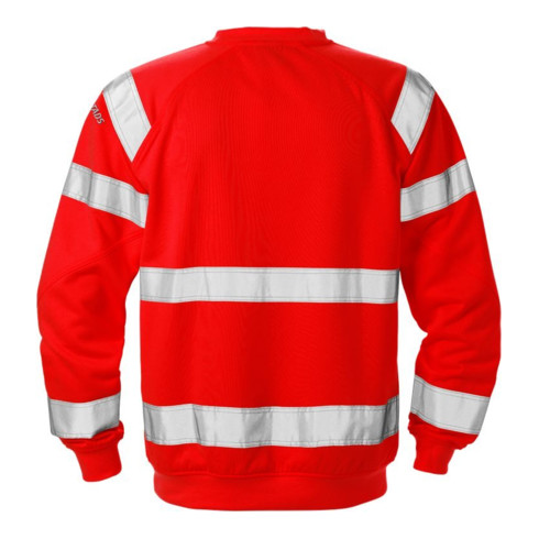 Fristads High Vis Sweatshirt Kl. 3 7446 SHV Rot (Herren)