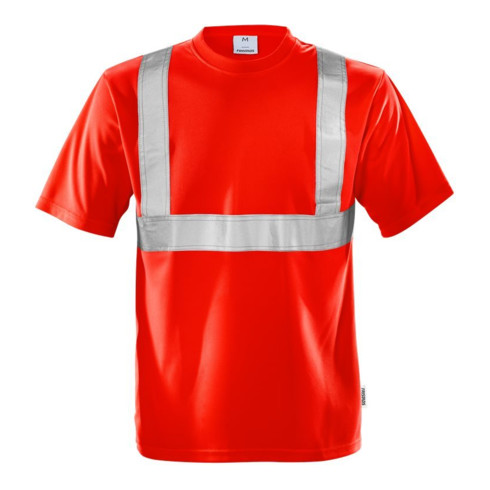 Fristads High Vis T-Shirt Kl. 2 7411 TP Rot (Herren)