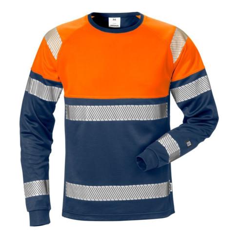 Fristads High Vis T-Shirt Langarm Kl. 1 7519 THV Orange (Herren)