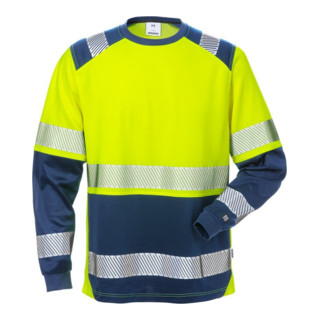 Fristads High Vis T-Shirt Langarm, Kl. 2 7457 THV Dunkelblau (Herren)
