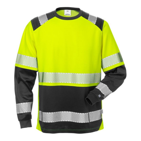Fristads High Vis T-Shirt Langarm, Kl. 2 7457 THV Gelb (Herren)