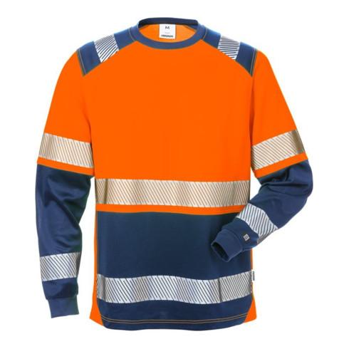 Fristads High Vis T-Shirt Langarm, Kl. 2 7457 THV Orange (Herren)
