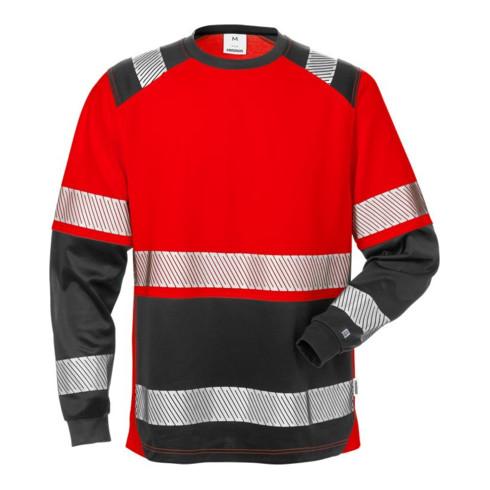Fristads High Vis T-Shirt Langarm, Kl. 2 7457 THV Rot (Herren)