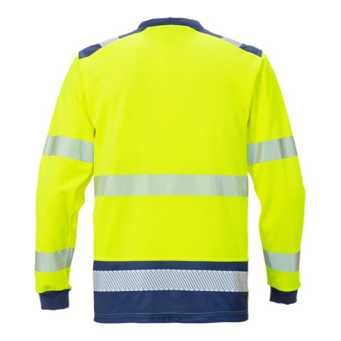 Fristads High Vis T-Shirt Langarm KL. 3 7724 THV Dunkelblau (Herren)