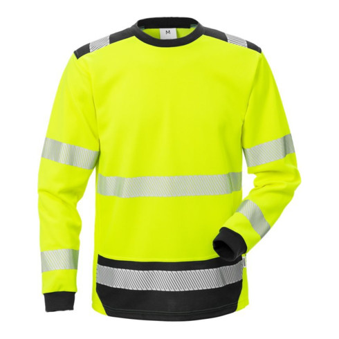 Fristads High Vis T-Shirt Langarm KL. 3 7724 THV Gelb (Herren) 2XL