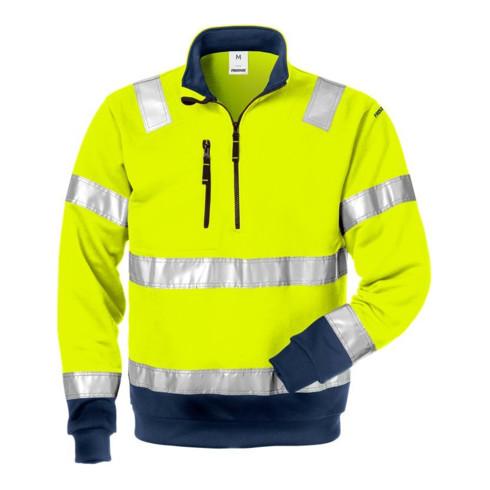 Fristads High Vis Zipper-Sweatshirt Kl. 3 728 SHV Dunkelblau (Herren)