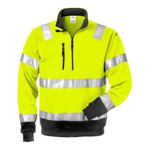 Fristads High Vis Zipper-Sweatshirt Kl. 3 728 SHV Gelb (Herren)