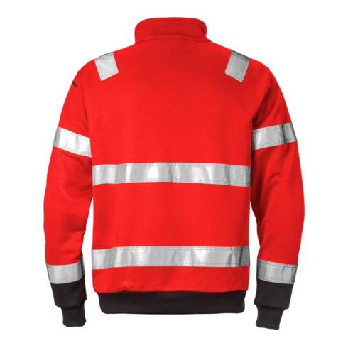Fristads High Vis Zipper-Sweatshirt Kl. 3 728 SHV Rot (Herren)