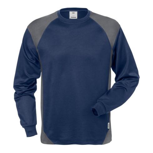 Fristads Langarm-T-Shirt 7071 THV Marine/Grau (Herren)