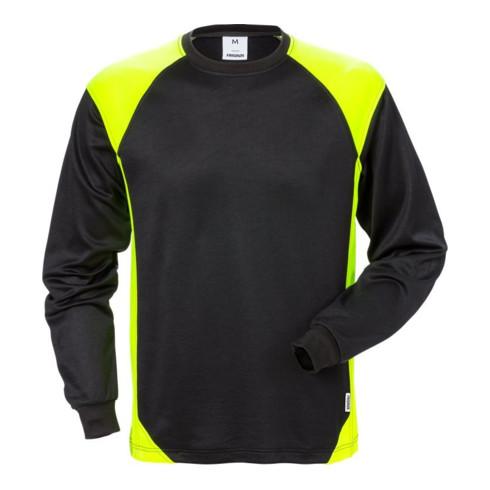 Fristads Langarm-T-Shirt 7071 THV Schwarz/Gelb (Herren)