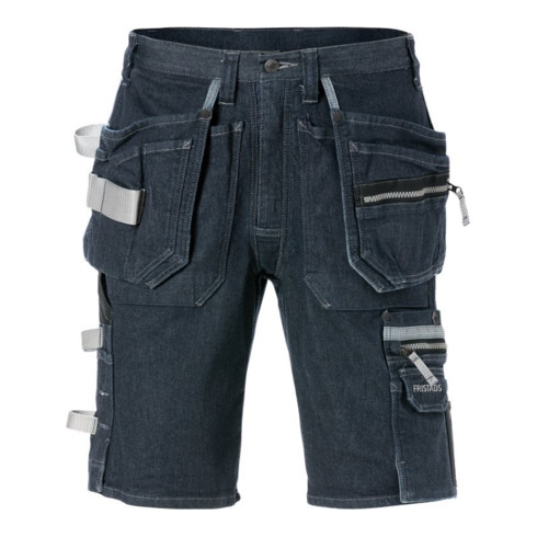 Fristads Stretch-Jeans-Shorts 2137 DCS Blau (Herren)