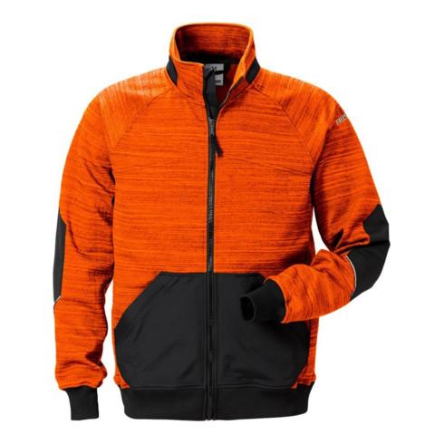 Fristads Sweatjacke 7052 SMP Schwarz/Orange (Unisex)