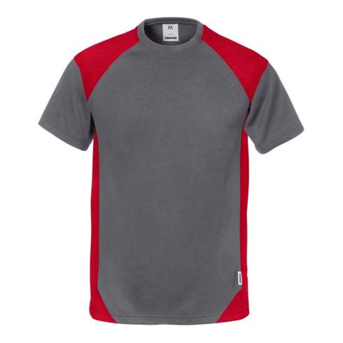 Fristads T-Shirt 7046 THV Rot; Grau (Herren)