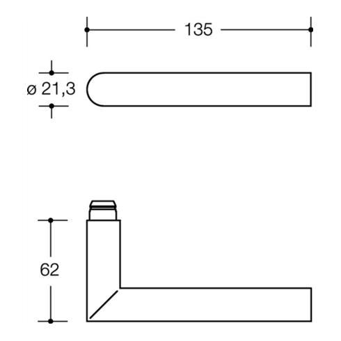 FS-Grt. 162.21PCH,123PCH/230.21PCH E72 PZ linkszeigend VK 9mm weiss
