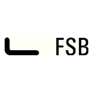 FSB Profiltür-Drückerlochteil 06 1146 Alu.0105 ov.9mm gekr.FSB