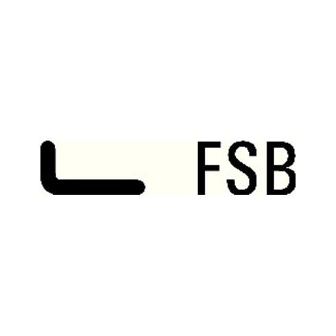 FSB Türdrückerpaar 10 1076 Alu.0105 o.Rosetten VK 8mm