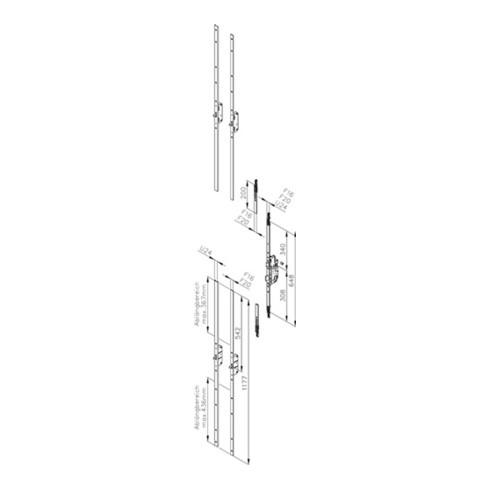 Fuhr Reno-Schloss Multisafe 855WER Dorn 55mm Entf.72mm F-Stulp 20mm PZ
