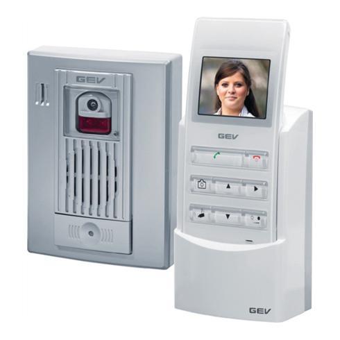 Funk Video-Türsprechanlage CVF 86005 silber/weiß