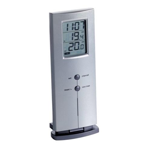 Funkthermometer Messber.auß.-40 b.60GradC/in.-10 b.60GradC H170xB65xT35mm Ku.