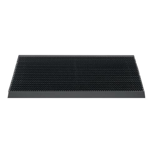 Fußmatte Alu-Anlaufkante schwarz/schwarz PP/Alu L500xB800xS22mm