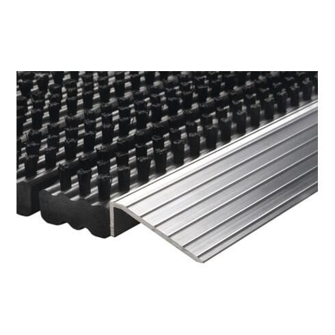 Fußmatte Alu-Anlaufkante schwarz/silber PP/Alu L430xB750xS22mm