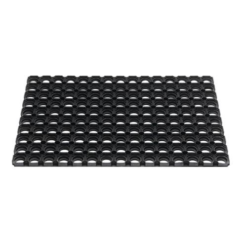 Fußmatte offene Ringe schwarz Gum.L800xB1200xS22mm