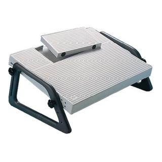 Fußstütze Kunstst. grau B450xT350mm höhenverstellbar Aussparung f. Fußschalter