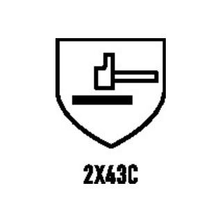 Gant de protection contre les coupures Hades T. 11 gris cuir bovin plein EN 388,