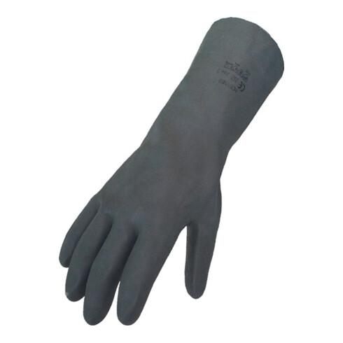 Gant protection chimique T. 8 noir EN 388, EN 374 cat. III