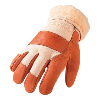 Gants de protection contre le froid T. 10,5 marron/nature cuir d'ameublement