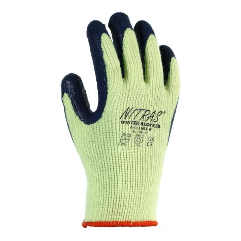 Gants de protection contre le froid Winter Blocker T. 10 jaune/bleu bouclé Terry