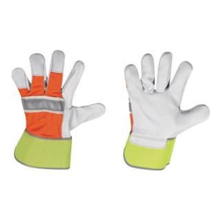 Gants de protection contre le froid Winter HI-VIS taille 10,5 jaune/orange cuir