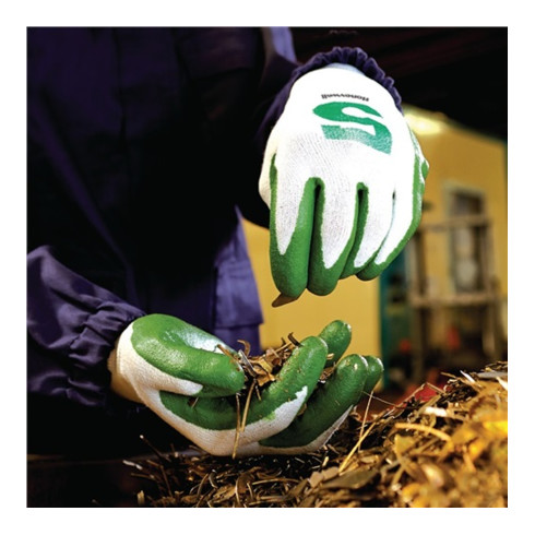 Gants de protection contre les coupures Check & Go Green Nit 5 taille 10 blanc/v