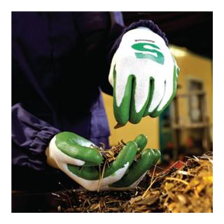 Gants de protection contre les coupures Check & Go Green Nit 5 taille 9 blanc/ve
