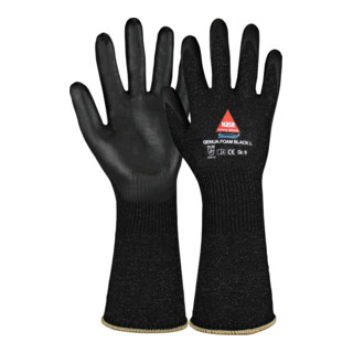 Gants de protection contre les coupures Genua Foam black long T. 10 noir Sinomac