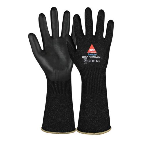 Gants de protection contre les coupures Genua Foam black long T. 8 noir Sinomac®
