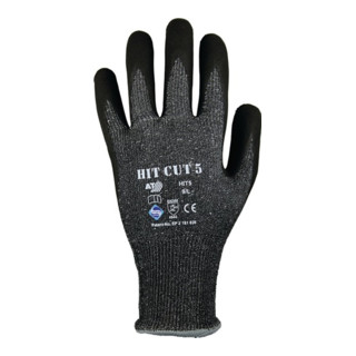 Gants de protection contre les coupures HIT CUT 5 T. 11 gris/noir HDPE/élas./fib