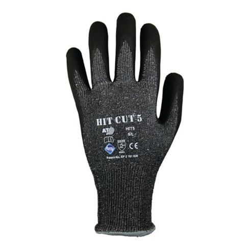 Gants de protection contre les coupures HIT CUT 5 T. 11 gris/noir HDPE/élas./fib