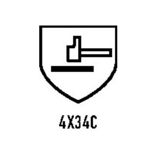 Gants de protection contre les coupures HIT CUT 5 T. 8 gris/noir HDPE/élas./fibr