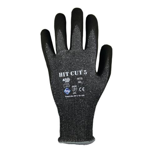 Gants de protection contre les coupures HIT CUT 5 T. 9 gris/noir HDPE/élas./fibr