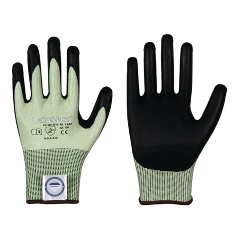 Gants de protection contre les coupures LeiKaTech® 1646 taille 11 vert/noir fibr