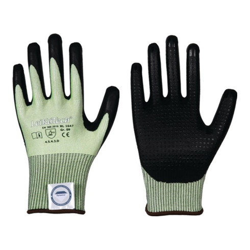 Gants de protection contre les coupures LeiKaTech® 1647 taille 11 vert/noir fibr